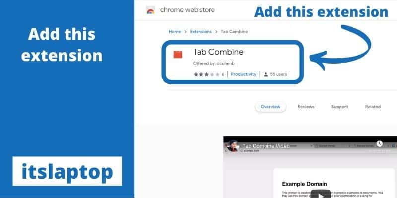 Join tabs