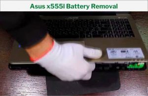 Pull Out the Battery by Turning on the Laptop