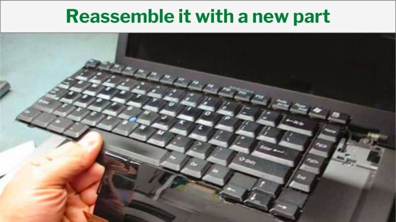 Reassemble it with a new part-how to open hp laptop keyboard