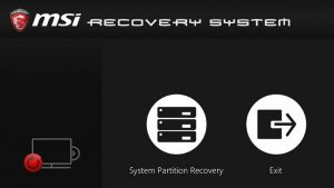 System Partition Recovery